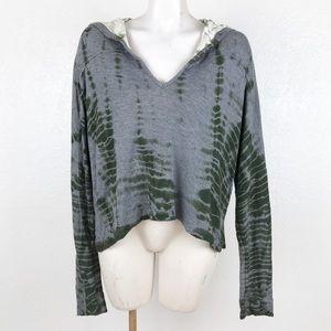 Gypsy 05 pullover tie dye hi lo hoodie